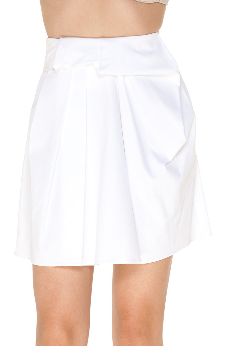 335 emporio armani knee length skirt white cotton size l