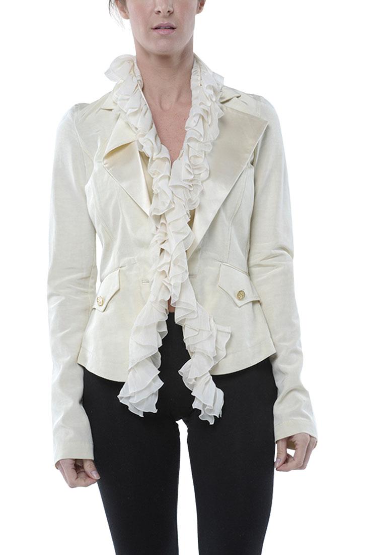 Buy 2400 Hot Roberto Cavalli Roberto Jacket Coat Cream Size 40 Ebay 051 Ebay